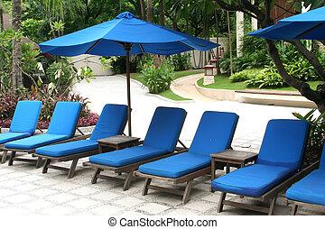 כסאות של סיפון, מלון, אסיה, טרקלין, אסייתי, פולסיד, כסא, חופשה, צרף