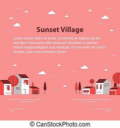 כפר, כפר קטן, הבט, סתו, קטנטן, דיורי, תבל, יפה, שכונה, בתים, שיט