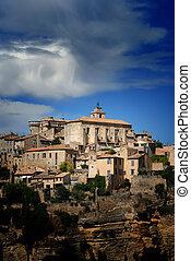 כפר, עתיק, של ימי הביניים, גורדאס, צרפת, 4, פסגה גבעה