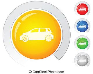כפתורים, מכונית