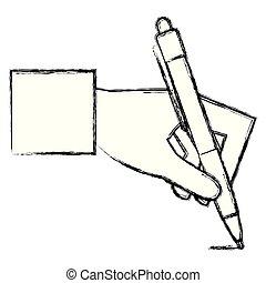 כתוב, יד כותבת