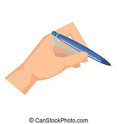 כתוב, נייר, יד כותבת