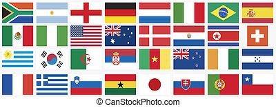 לאומי, דגלים