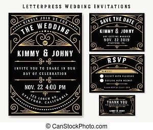 לאטארפראס, הזמנה של חתונה, עצב, template., כלול, רסוף,...