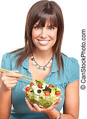 לאכול, אישה, דגנים