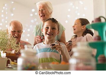 לאכול, בית, multi-generation, כאפכאק, משפחה