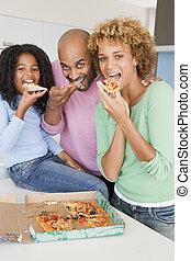לאכול, משפחה, ביחד, פיצה