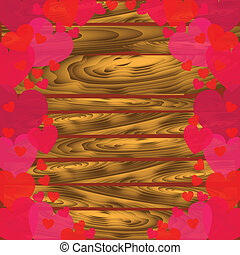 לבבות, טקסטורה של עץ