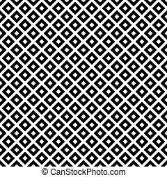 לבן שחור, אלכסון, ריבועים, אריחים, תבנית, חזור על, רקע