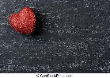 לב אדום, ב, a, לוח לגיר, ל, יום של ולנטיינים