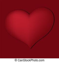 לב, אדום