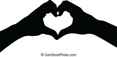 לב, אהוב, ידיים