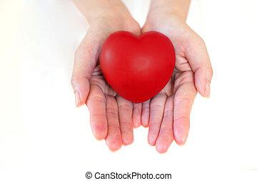 לב, ב, ה, ידיים