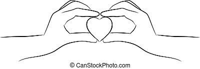 לב, להחזיק ידיים