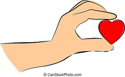 לב, להחזיק יד