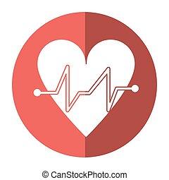 לב מרביץ, רפואי, פעום, של הלב, צל