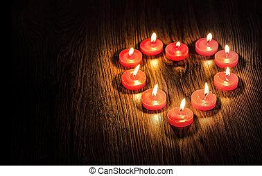 לב, נרות