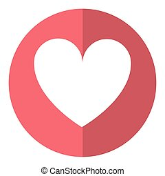 לב, סמל, אהוב, רומנטי, צל