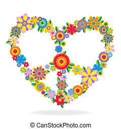 לב, פרחים, עשה, סימן של שלום