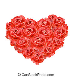 לב, של, ורדים, הפרד, ל, שלך, עצב