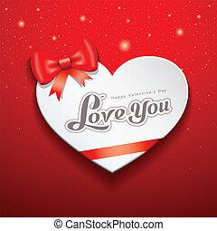 לב, שמח, יום, כרטיס, ולנטיין
