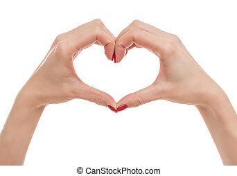 לב, hands.