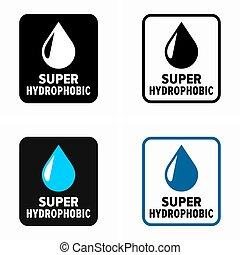 לדחות, השקה משטח, hydrophobic