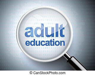 להגדיל, מבוגר, מילים, כוס, חינוך