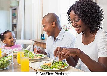 להנות, ארוחה, בריא, ביחד, משפחה, שמח