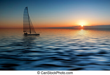 להפליג, ו, שקיעה
