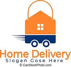 לוגו, משלוח של בית, design.