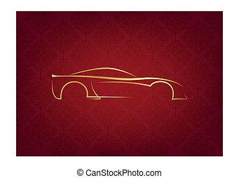לוגו, תקציר, calligraphic, מכונית