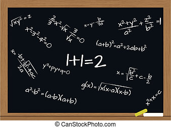 לוח לגיר, מתמטיקה, נוסחה