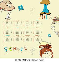 לוח שנה, דפוסית, 2012