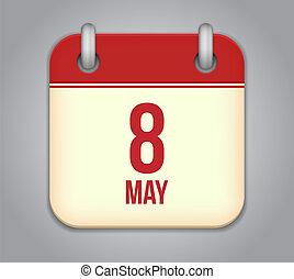 לוח שנה, וקטור, אפליקציה, איקון