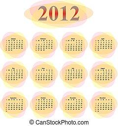 לוח שנה, וקטור, 2012