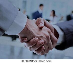 לחיצת יד, אנשים של עסק