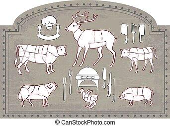 לחתוך בשר