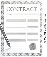 לחתום חוזה