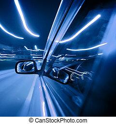לילה, מכונית, נהג