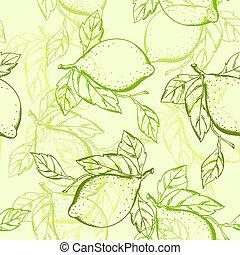 לימון, seamless, תבנית