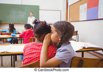 ללחוש, חמוד, כיתה, תלמידים