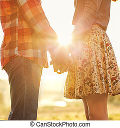 ללכת, אהוב, ל.ו., קשר, חנה, צעיר, סתו, להחזיק ידיים