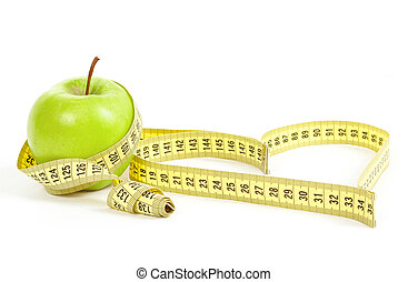 למדוד, לב, תפוח עץ, סמל, הפרד, הקלט, ירוק