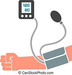 למדוד, לחץ, דם