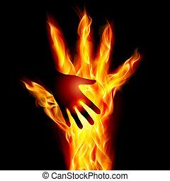 לעזור, להשרף, העבר
