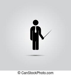 לעמוד, איש, pointer.