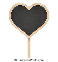 לעמוד, לב, פרסם, מעץ, לוח