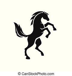 לעמוד, לוגו, סוס