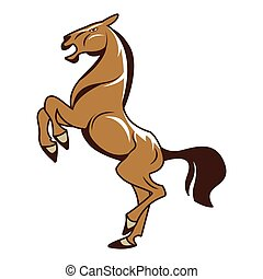 לעמוד, סוס